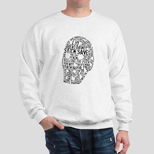 Vintage Hockey Goalie Typography Mask Sweatshirt