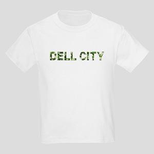 Dell City, Vintage Camo, Kids Light T-Shirt