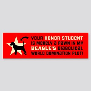Beagle Dog World Domination! Bumper Sticker
