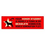 Beagle Dog World Domination! Bumper Sticker