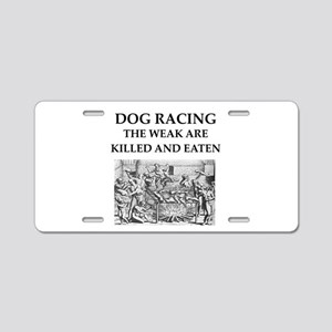 dog racing Aluminum License Plate