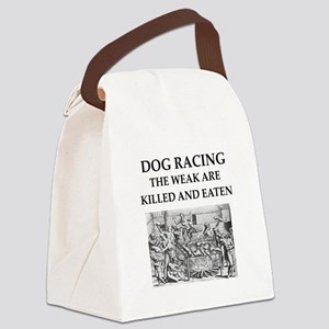 dog racing Canvas Lunch Bag