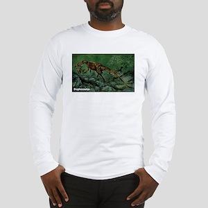 Dilophosaurus Dinosaur (Front) Long Sleeve T-Shirt