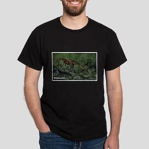 Dilophosaurus Dinosaur (Front) Dark T-Shirt