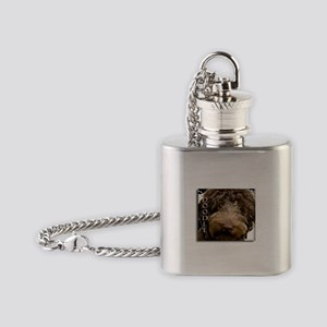 Chocolate Doodle Flask Necklace