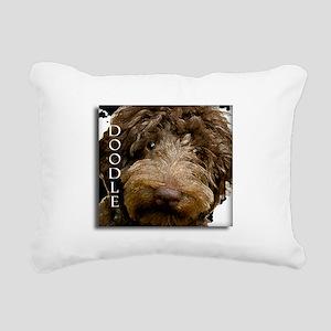 Chocolate Doodle Rectangular Canvas Pillow