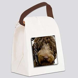 Chocolate Doodle Canvas Lunch Bag