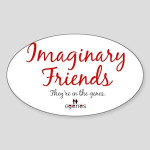 Imaginary Friends Oval Sticker