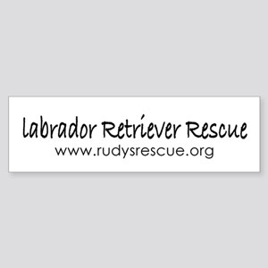 Labrador Retriever Rescue Bumper Sticker