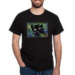 Halloween Black Cat Gold Eyes