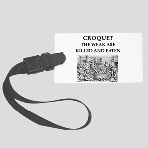 croquet Large Luggage Tag