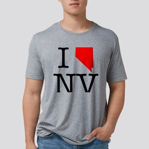 I Love NV Nevada Mens Tri-blend T-Shirt