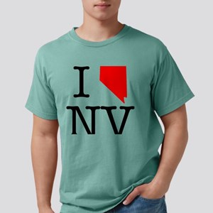I Love NV Nevada Mens Comfort Colors Shirt