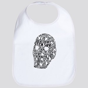 Vintage Hockey Goalie Typography Mask Bib