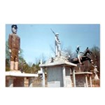 Three Statues Postcards (Package of 8)