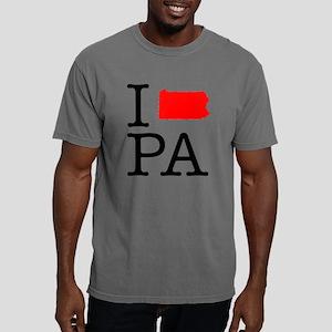 I Love PA Pennsylvania Mens Comfort Colors Shirt