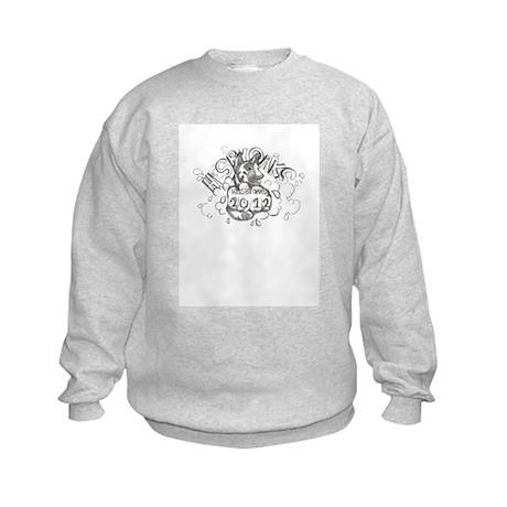 blackwhite winning logo 2012 Kids Sweatshirt