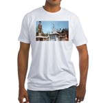 Three Statues Fitted T-Shirt