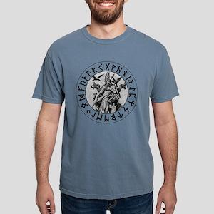 Odin Rune Shield Blk on  Mens Comfort Colors Shirt