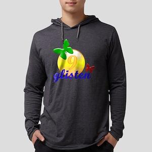 glisten_blue9 Mens Hooded Shirt