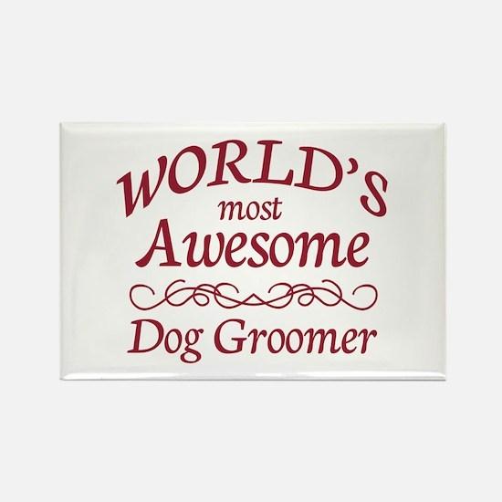Dog Groomer Rectangle Magnet (100 pack)