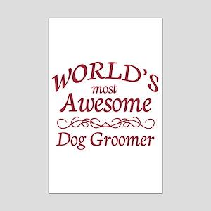 Dog Groomer Mini Poster Print