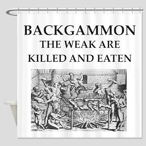 BACKGAMMON Shower Curtain