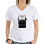 Keep Calm and Blog On Women's V-Neck T-Shirt