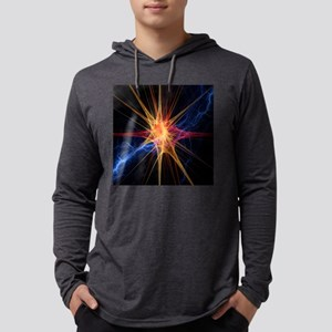 Nerve cell, artwork Mens Hooded Shirt