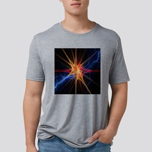 Nerve cell, artwork Mens Tri-blend T-Shirt