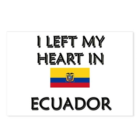 I Left My Heart In Ecuador Postcards (Package of 8