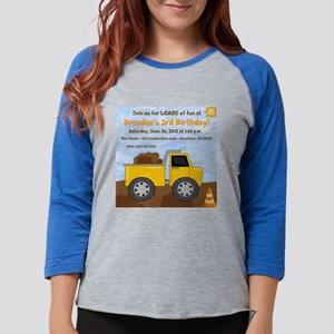 Dump Truck Birthday Womens Baseball Tee