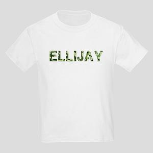 Ellijay, Vintage Camo, Kids Light T-Shirt
