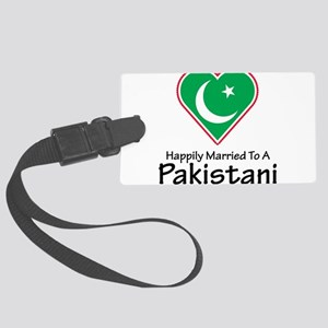 Happily Married Pakistani Large Luggage Tag