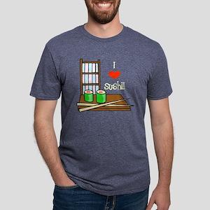 I Love sushi light Mens Tri-blend T-Shirt
