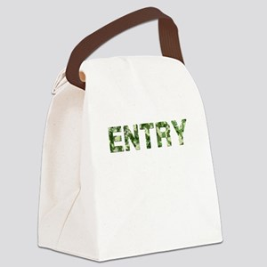 Entry, Vintage Camo, Canvas Lunch Bag