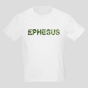 Ephesus, Vintage Camo, Kids Light T-Shirt