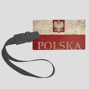 Vintage Polska Large Luggage Tag