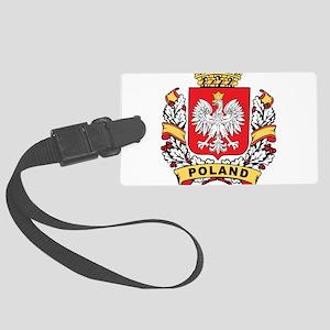 Stylish Poland Crest Large Luggage Tag