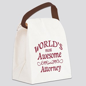 Awesome Attorney Canvas Lunch Bag