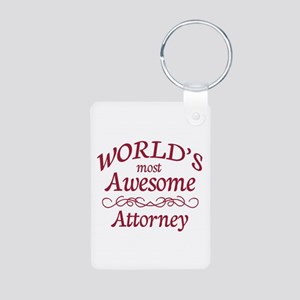Awesome Attorney Aluminum Photo Keychain