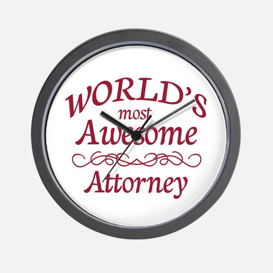 Awesome Attorney Wall Clock