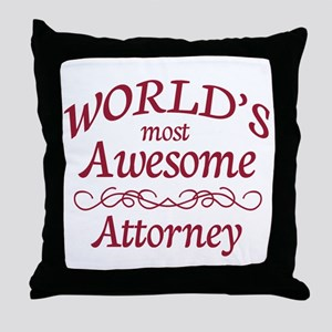 Awesome Attorney Throw Pillow