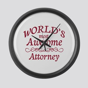 Awesome Attorney Large Wall Clock