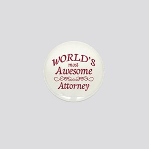 Awesome Attorney Mini Button