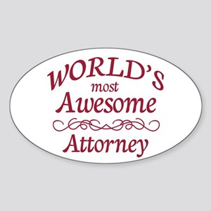 Awesome Attorney Sticker (Oval)
