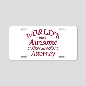 Awesome Attorney Aluminum License Plate