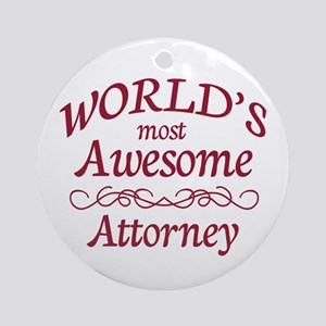 Awesome Attorney Ornament (Round)