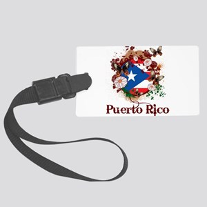 Butterfly Puerto Rico Large Luggage Tag
