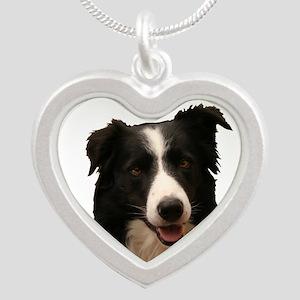 Border Smile Silver Heart Necklace Necklaces
